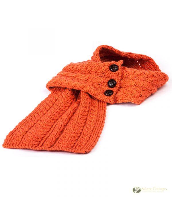 aran loop scarf autumn leaf