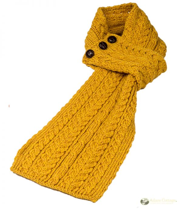 aran loop scarf yellow