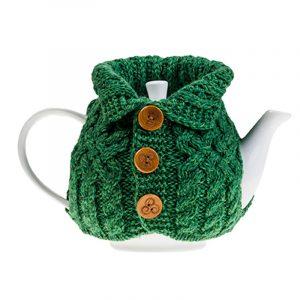 A Tea Cosy in the shape of an Aran Cardigan