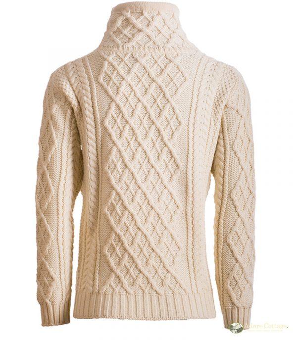 Aran Woollen Mills - Ladies Aran Drawstring pullover