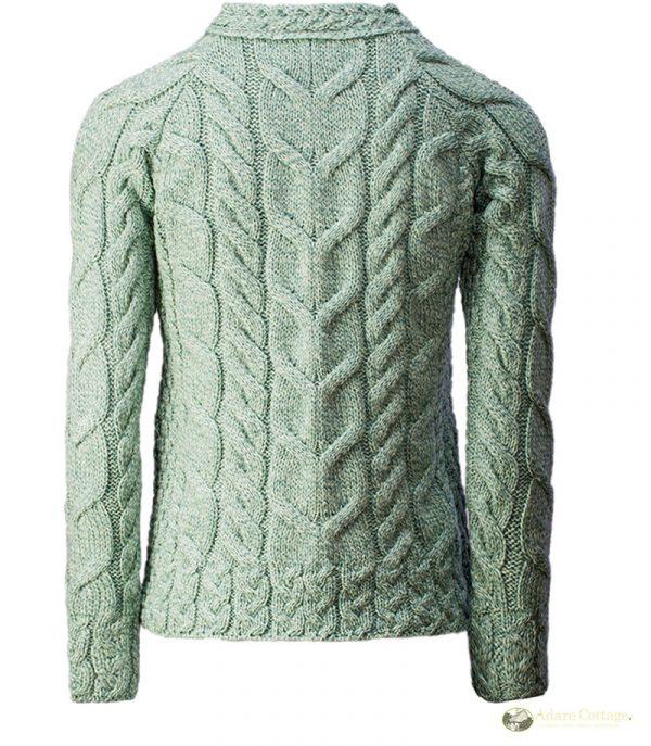 Aran Woollen Mills Ladies Mint Aran Sweater