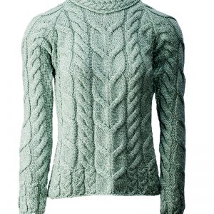 Aran Woollen Mills Ladies Mint Aran Sweater