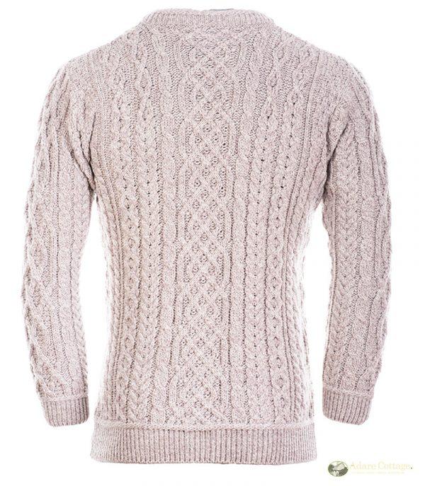 aran woollen mills mens aran crew neck sweater