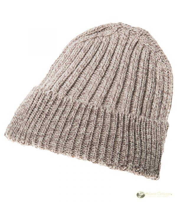 aran woollen mills mens ribbed hat
