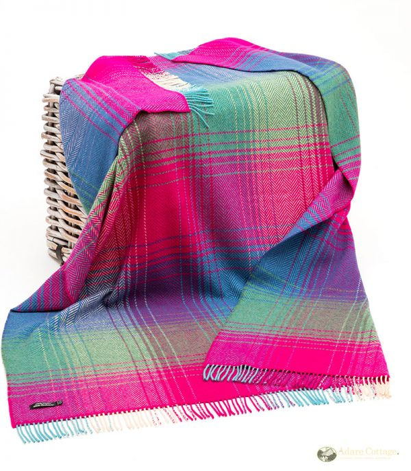 cashmere throw multicoloured