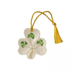 Belleek Shamrock Ornament  Shamrock Ornament