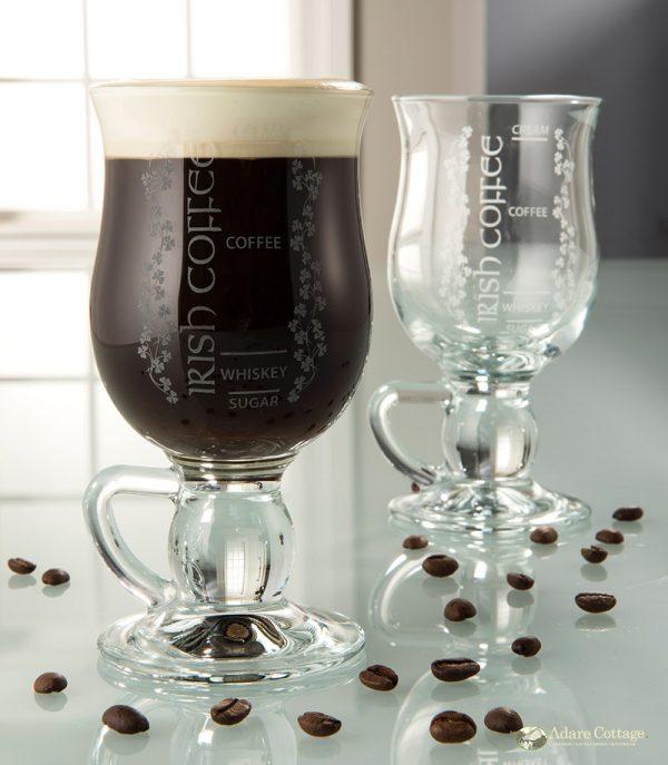 Belleek Coffee Glasses  Set of 2 Irish Coffee Glasses