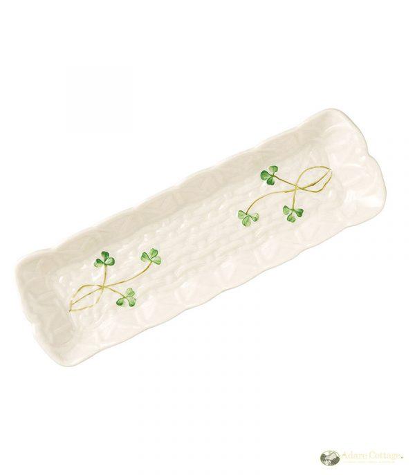 Belleek Mint Tray  Shamrock Mint Tray