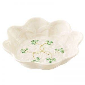 Belleek Sweet Dish  Shamrock Sweet Dish