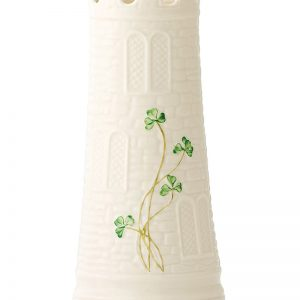Belleek Vase  Castle Vase