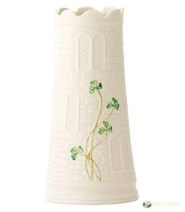 Belleek Vase  Castle Vase