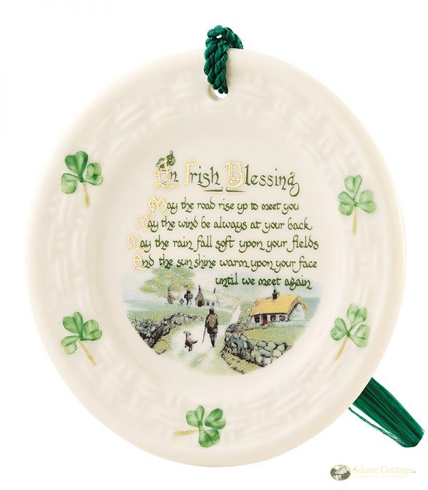 Belleek Irish Blessing Ornament  IrishBlessing Ornament