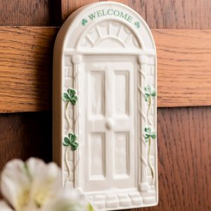 Belleek Wall plaque  Welcome Door Wall Plaque