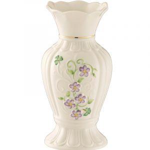 Belleek Vase  Irish Flax Vase