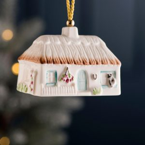 Belleek Cottage Ornament  Azalea Cottage
