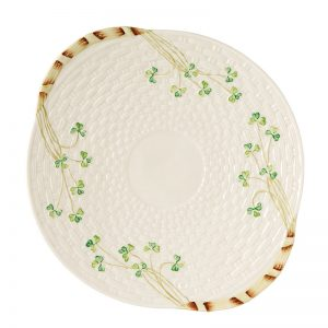 Belleek Bread Plate  Shamrock Bread Plae
