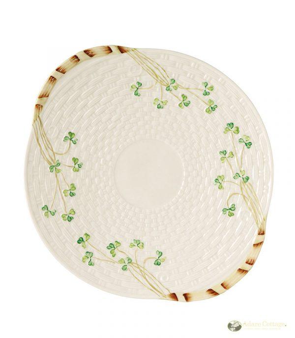 Belleek Bread Plate  Shamrock Bread Plae