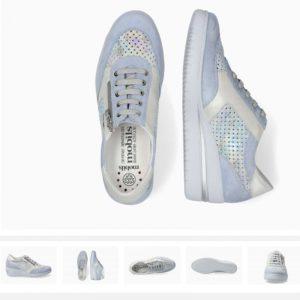 Mephisto Precilia Perf Sky blue Ladies Footwear