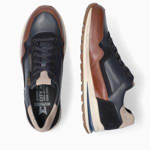 Mephisto Bradley Navy Mens Footwear