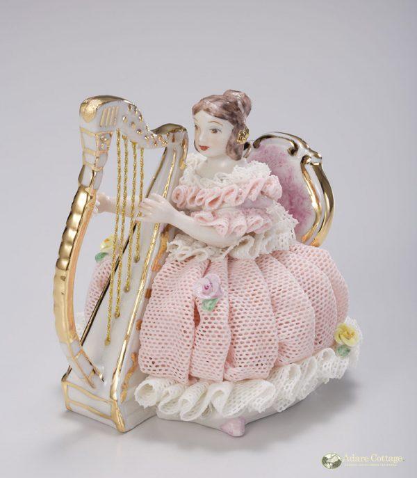 Irish Dresden Porcelain Christine Figurine -Pink