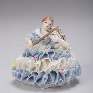Irish Dresden Porcelain Josephine Figurine -Blue