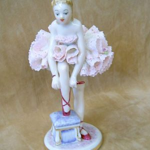Irish Dresden Porcelain Giselle Figurine -Pink