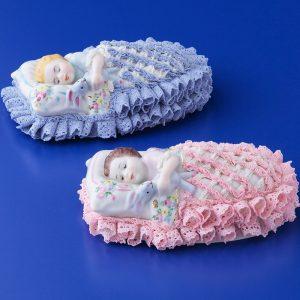 Irish Dresden Porcelain Sweet Dreamer Figurine -Pink,blue