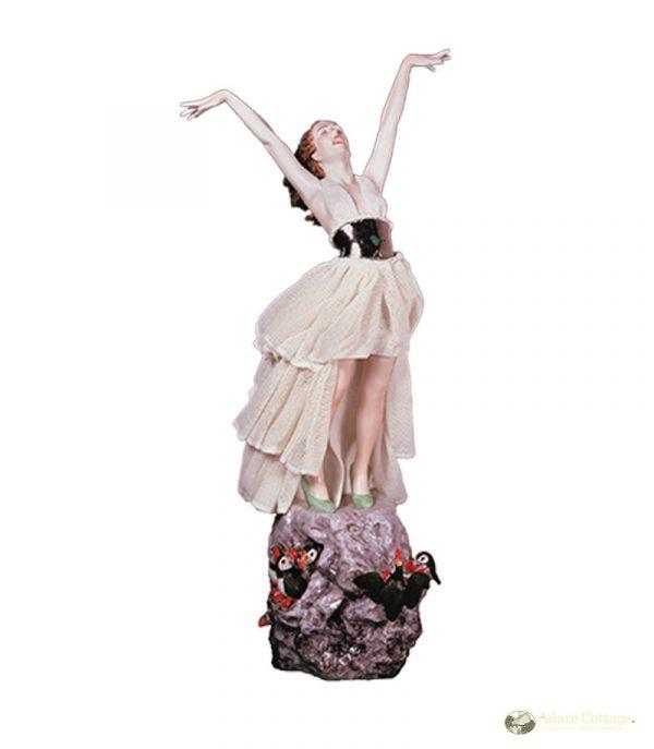 Irish Dresden Porcelain Dance In the Wind Figurine -White