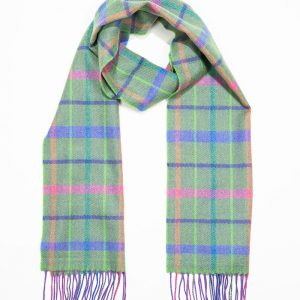 John Hanly & Co. Ladies scarf Green.purple pink