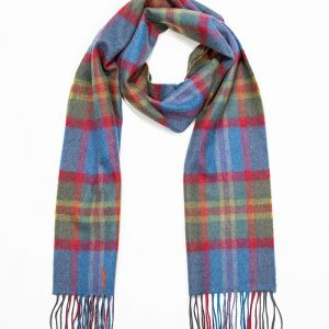 John Hanly & Co. Ladies scarf Blue green red check