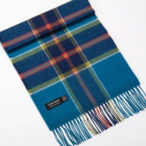 John Hanly & Co. Ladies scarf Petrol blue