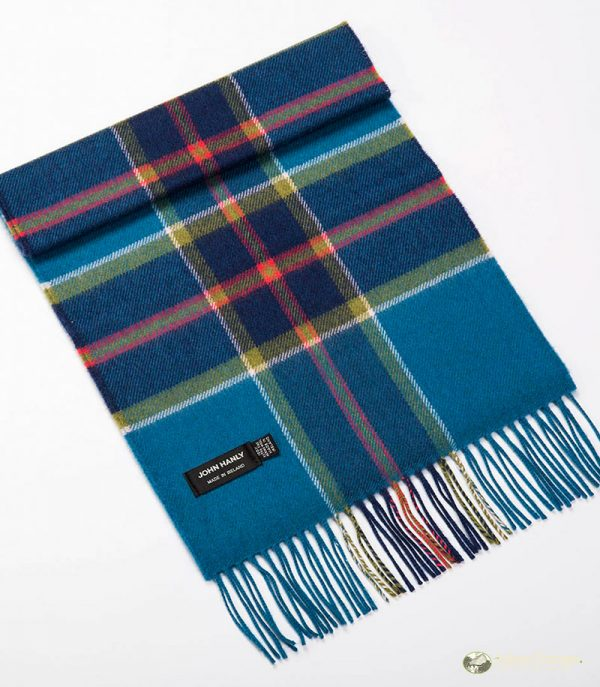 John Hanly & Co. Ladies scarf Petrol blue