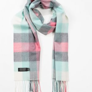 John Hanly & Co. Ladies scarf Mint grey pink