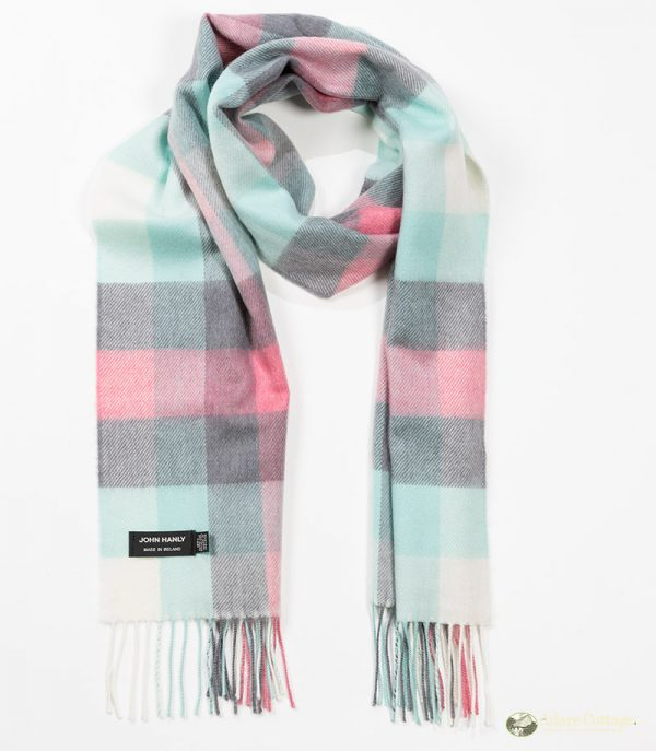 John Hanly & Co. Ladies scarf Mint grey pink