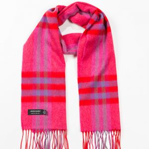 John Hanly & Co. Ladies scarf Pink red purple