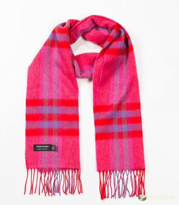 John Hanly & Co. Ladies scarf Pink red purple