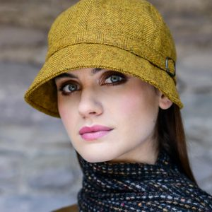 Mucros Weavers Ladies Flapper Hat Mustard