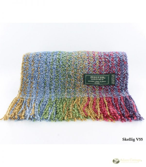 Mucros Weavers Ladies Skellig Scarf Rainbow