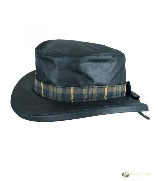 Oxford Blue Ladies Wax Hat Thelma Blackwatch