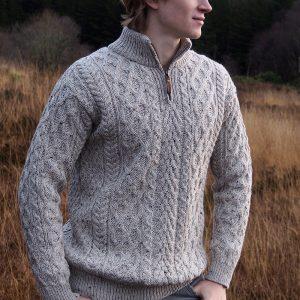 Westend Donegal Oatmeal nep Mens Knitwear