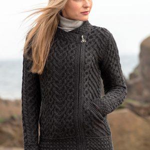 Westend Cashel Charcoal Ladies Knitwear