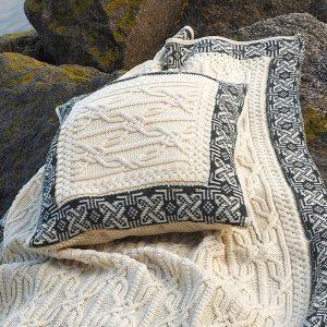Westend Aran Cushion Cover Natural Blankets & Throws Homeware