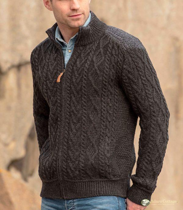 Westend Boyne Charcoal Mens Knitwear