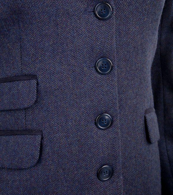 ACS Blue Tweed Blazer Close up