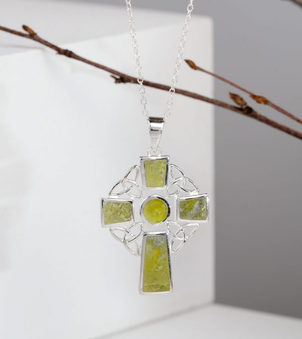 ACS Connemara Marble Celtic Cross Necklace 800x900 1
