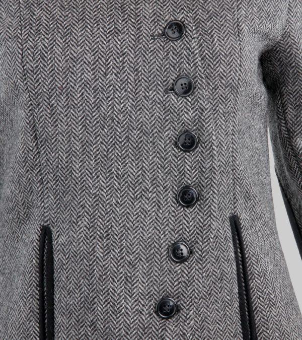 ACS Grey Tweed Blazer Close