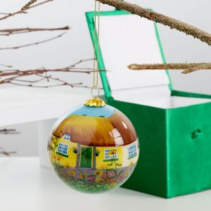 ACS Hand Painted Ball Ball Yellow Hanging 2 DCDC800900