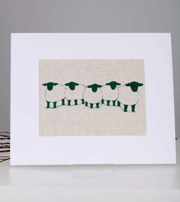 ACS Linen Lane Suffolk Sheep Group Medium Print