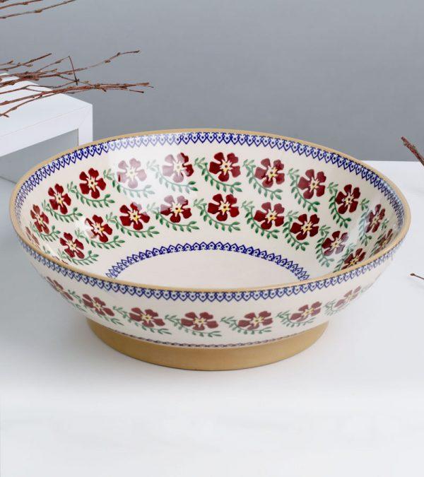 ACS Nicholas Mosse Old Rose Fruit Bowl 2 DC