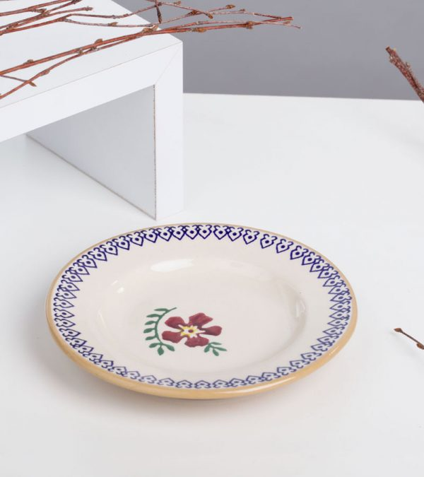 ACS Nicholas Mosse Old Rose Small Round Plate 1 DC